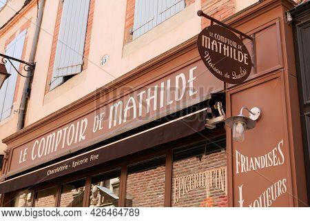 Bordeaux , Aquitaine France  - 07 04 2021 : Le Comptoir De Mathilde Logo Brand Sign Text Store Of Bo