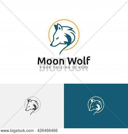 Night Moon Wolf Head Elegant Nature Wildlife Logo