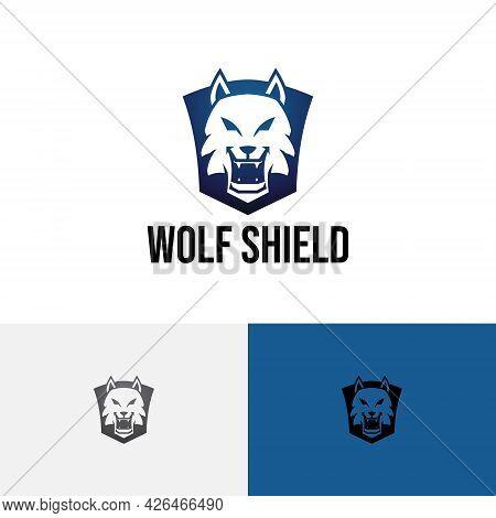 Wolf Head Shield Wild Wildlife Predator Logo
