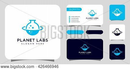 Creative Planet Orbit Labor Lab Abstract Logo Design And Business Card