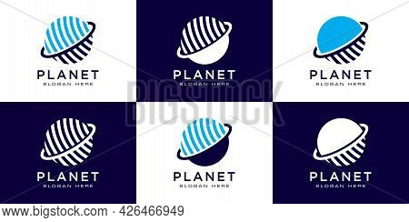 Creative Planet Orbit Abstract Logo Design And Business Card