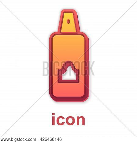 Gold Spray Can For Hairspray, Deodorant, Antiperspirant Icon Isolated On White Background. Vector
