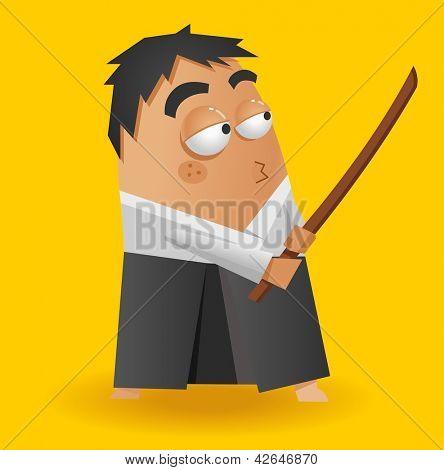 Aikido warrior. Vector illustration