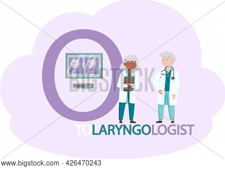 Doctors Conduct Examination, Make Diagnoses And Treat Sick Patients, Otolaryngologist Take Care Of P