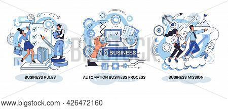 Strategic Business Planning, Automation Process. Business Mission, Rules, Vision Statement, Competit