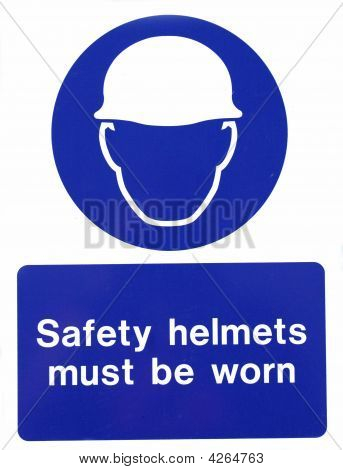 Hard Hat Safety Sign