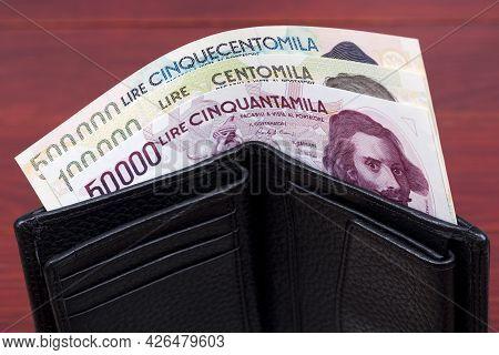 Italian Money - Lira In The Black Wallet