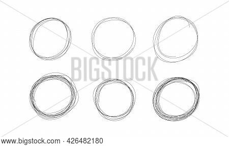 Highlight Circle Scribble Frame - Ink Pen Scrawl Border For Emphasis And Highlighting Text Or Import