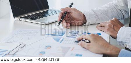 Professional Business Teamwork Conference Project Success Financial Statistics Growth Profit, Partne