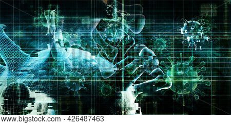 Disease Research Center for Medical Development Concept 3d Render