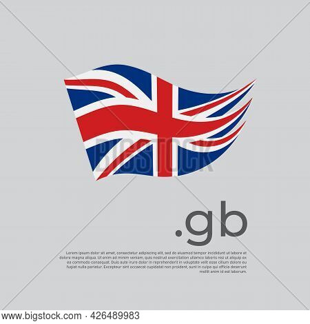Great Britain Flag. Stripes Colors Of The Uk Flag On A White Background. Vector Design National Post