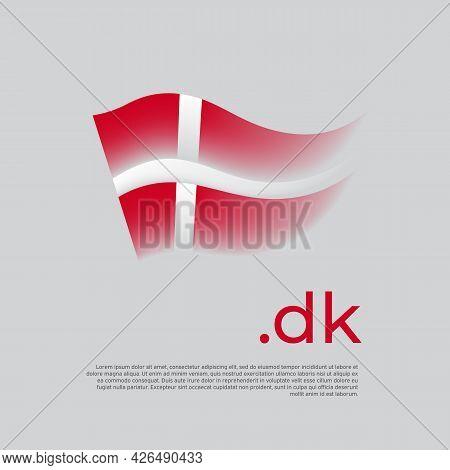 Denmark Flag. Stripes Colors Of The Danish Flag On A White Background. Vector Design National Poster