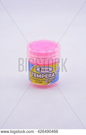 Manila, Ph - July 9 - Focus Tempera Washable Poster Paint Pink Color On July 9, 2021 In Manila, Phil