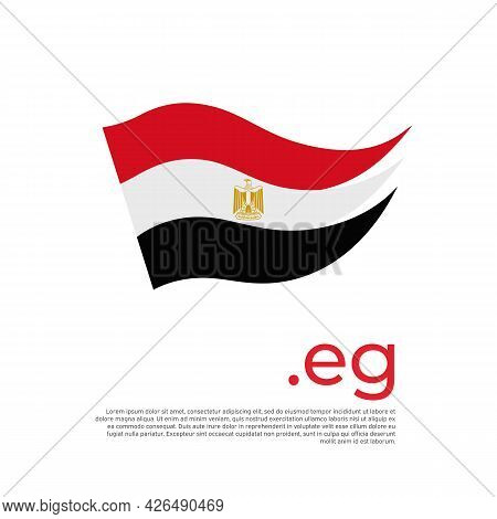 Egypt Flag. Stripes Colors Of The Egyptian Flag On A White Background. Vector Design National Poster