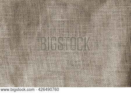 Texture Of Old Dirty Canvas, Dark Sackcloth With Spots, Vintage Background