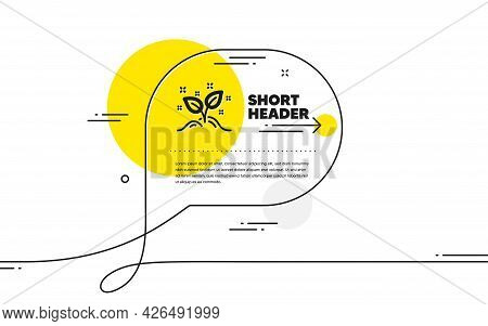Startup Concept Icon. Continuous Line Chat Bubble Banner. Idea Leaves Sign. Launch Project Symbol. S