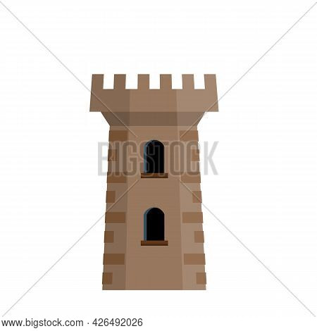 Knights Fortress. Concept Of Security, Protection And Defense. Military Building And Big Tower.