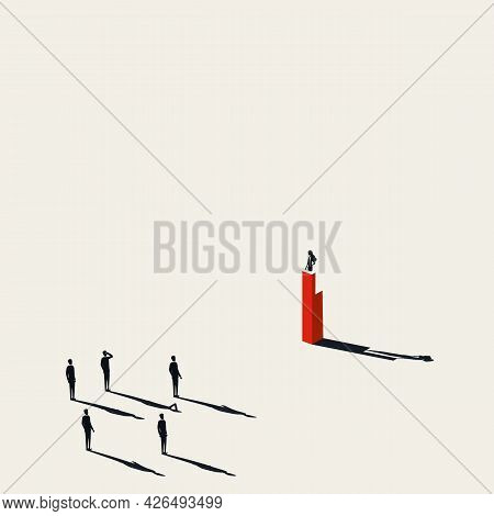 Business Woman Or Politician Woman Leader Vector Concept. Symbol Of Woman Power, Feminism. Minimal I