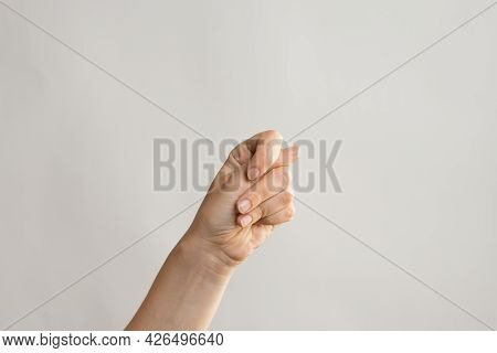 Hand Gestures. Fig Negative Gesture, Nothing There