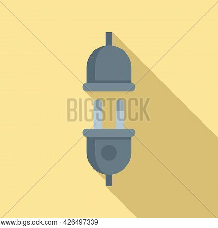 Electric Plug Icon Flat Vector. Socket Power Wire. Cable Energy