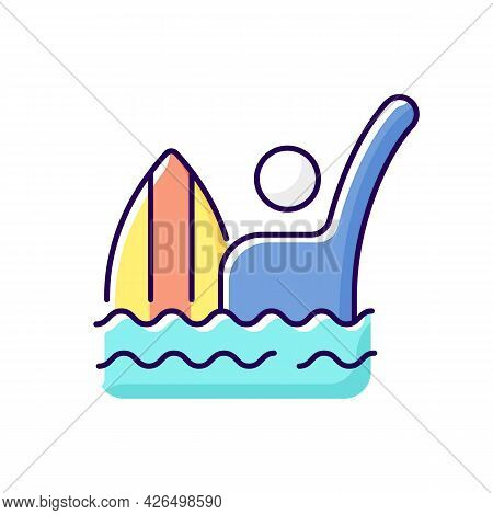 Emergency Signal For Drowning Rgb Color Icon. Isolated Vector Illustration. Waving One Straight Arm