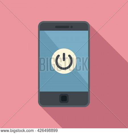 Turn Off Smartphone Icon Flat Vector. Turn Off Mobile Phone. Cellphone Shutdown