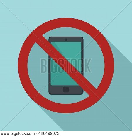 Restricted Phone Icon Flat Vector. Turn Off Smartphone. Silence Mobile Phone