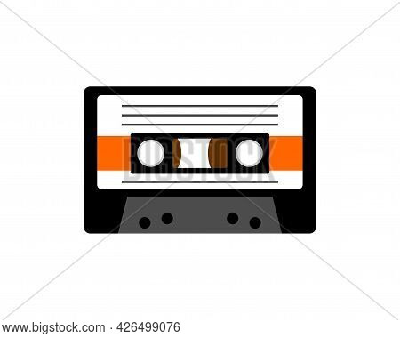 Retro Cassette For Tape Recorder. Boombox Cassette Isolated