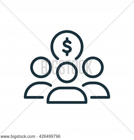 Fund Of Donation Linear Icon. Charity And Donation Concept. Organization And Community Charitable Fo