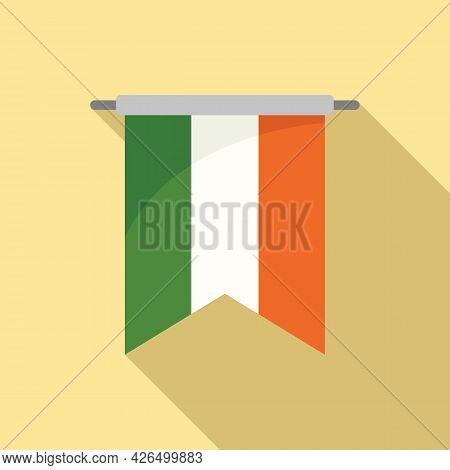 Ireland Banner Icon Flat Vector. Irish Flag. Ireland Republic Day