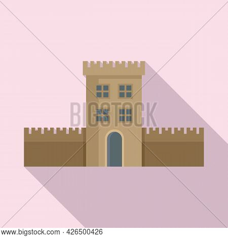 Ireland Fort Icon Flat Vector. Castle Culture. Historical Fort