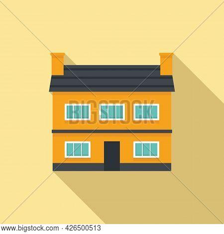 Old Irish House Icon Flat Vector. Pub Leprechaun. Dublin Building