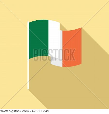 Ireland Flag Icon Flat Vector. Irish Republic Flag. National Ireland Flag