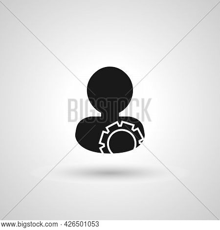 Account Sign. Account Isolated Simple Vector Icon