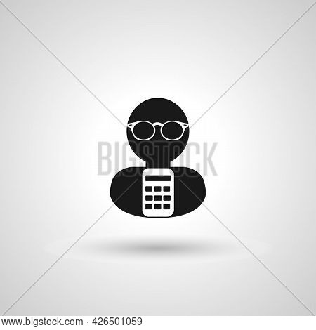 Accountant Sign. Accountant Isolated Simple Vector Icon