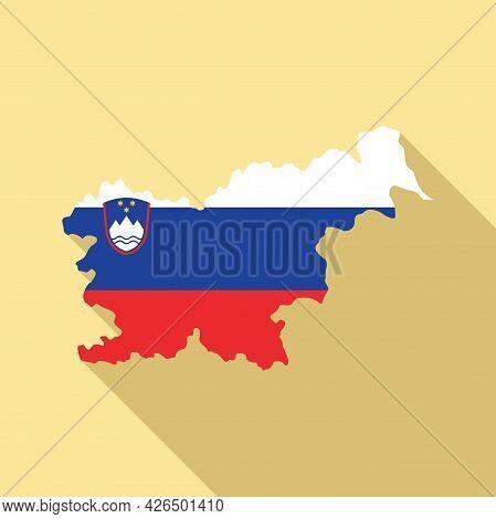 Slovenia Map Icon Flat Vector. Flag Chart. Slovenia Country