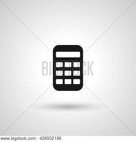 Calculator Sign. Calculator Isolated Simple Vector Icon