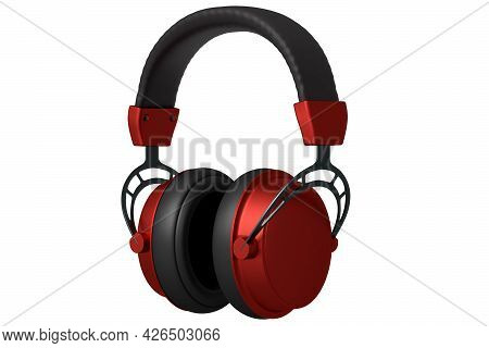 3d Rendering Of Gaming Headphones On White Background. Concept Of Cloud Gaming And Game Streaming Se