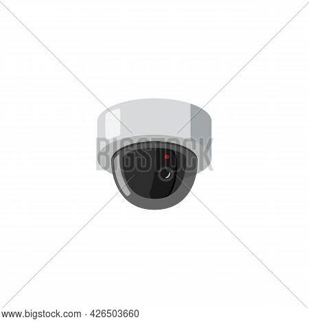 Hidden Video Surveillance Camera Device Flat Vector Illustration Isolated.