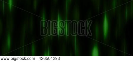 Black Green Festive Background With Blur And Gradient. Space For Graphic Design And Creative Ideas.