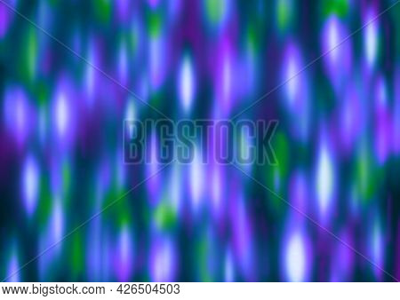 Blue Green Purple Lilac Festive Background With Blur And Gradient. Space For Graphic Design And Crea