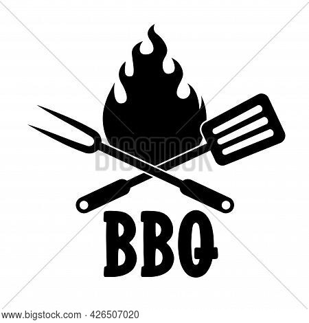 Bbq - Label. Barbeque Elements For Labels, Logos, Badges, Stickers Or Icons. Vector Illustration, He
