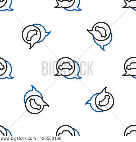 Line Car Service Icon Isolated Seamless Pattern On White Background. Auto Mechanic Service. Repair S