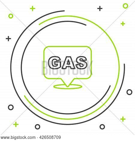 Line Location And Petrol Or Gas Station Icon Isolated On White Background. Car Fuel Symbol. Gasoline