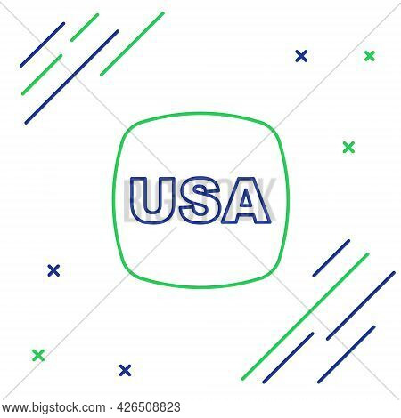 Line Usa Independence Day Icon Isolated On White Background. 4th Of July. United States Of America C