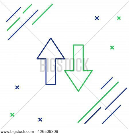 Line Arrow Icon Isolated On White Background. Direction Arrowhead Symbol. Navigation Pointer Sign. C