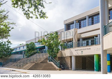 New Orleans, La - July 1: Reily Student Recreational Center At Tulane University On July 1, 2021 In