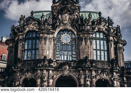 17 May 2019 Dresden, Germany -  Glockenspielpavillon Carillon Pavilion In The Zwinger,clock Pavilion