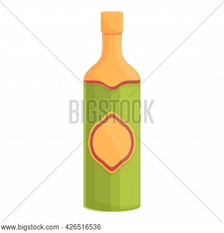 French Wine Icon Cartoon Vector. France Bottle. Grape French Wine
