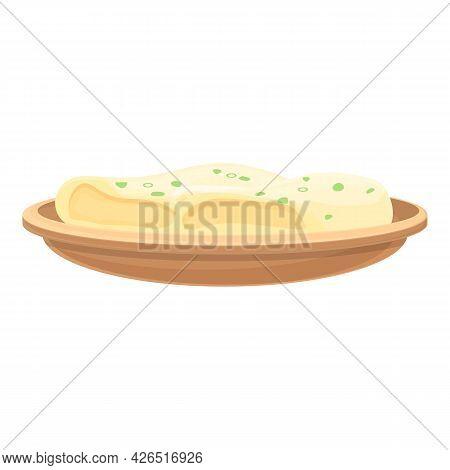 Dough Food Icon Cartoon Vector. Hand Kitchen Food. Chef Bake